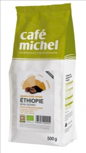 Kawa ziarnista Arabica Sidamo Etiopia Fair Trade BIO 500g Cafe Michel