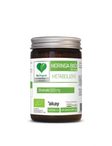 MORINGA EKSTRAKT 4:1 BIO 100 TABLETEK (500 mg) - BE ORGANIC