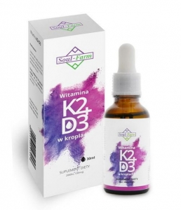 Witamina K2 i D3 w kroplach 30ml Soul Farm